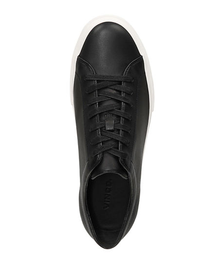 Image 3 of 4: Vince Men's Farrell Smooth Leather Low-Top Sneakers