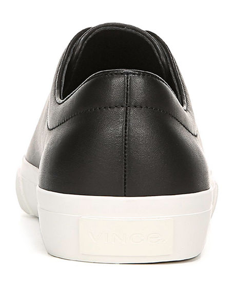 Image 4 of 4: Vince Men's Farrell Smooth Leather Low-Top Sneakers