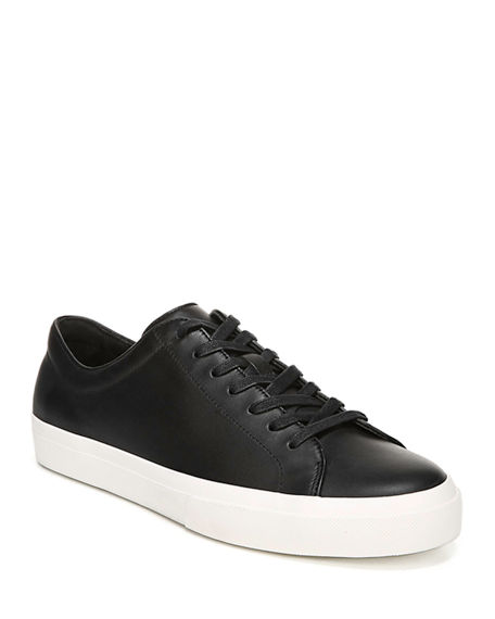 Image 1 of 4: Vince Men's Farrell Smooth Leather Low-Top Sneakers
