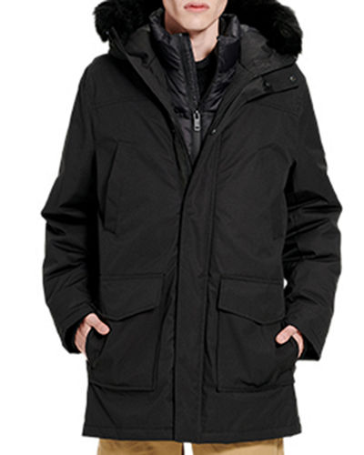 Men's Butte Parka Coat w/ Fur Trim