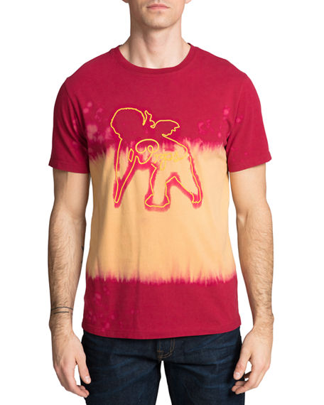 Image 1 of 2: PRPS Men's Tie-Dye Cherub T-Shirt