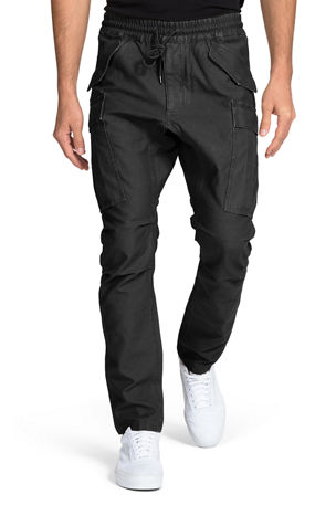 PRPS Men's Drop-Crotch Tapered Cargo Pants