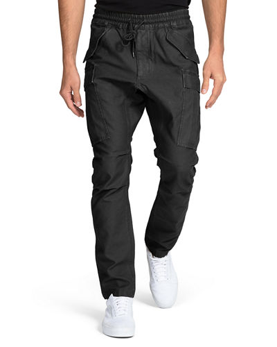 Men's Drop-Crotch Tapered Cargo Pants