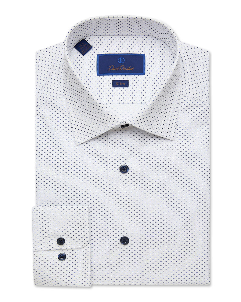 David Donahue Men's Slim-Fit Gingham Check Dress Shirt