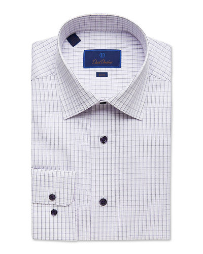 Men's Slim-Fit Gingham Check Dress Shirt