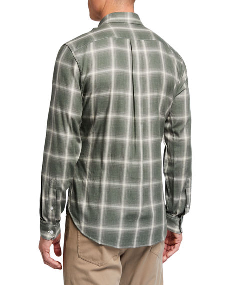 Image 2 of 2: Vince Men's Shadow Plaid Sport Shirt