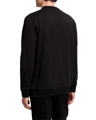 Karl Lagerfeld Paris Men's Signature Logo Crewneck Sweatshirt
