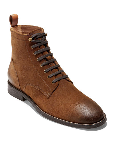 Men's Feathercraft Grand Leather Lace-Up Boots w/ Contrast Accents