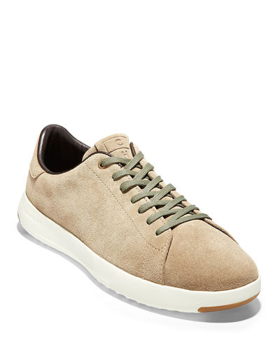 Men's GrandPro Burnished Leather Tennis Sneakers