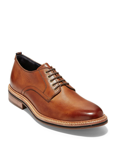 Men's Frankland Leather Derby Shoes with Contrast Stitching