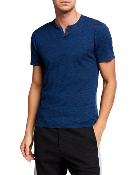 Mills Supply Men's Malibu Striped Open-Neck Henley Shirt