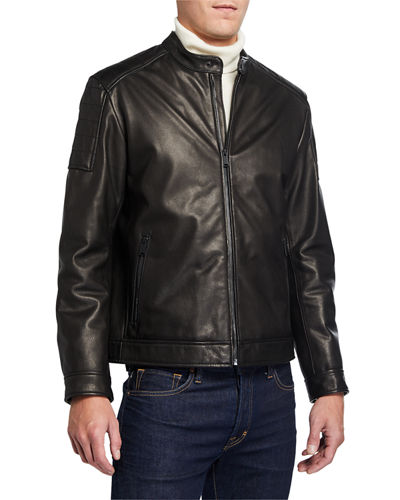 Cole Haan Men's Spanish Grainy Leather Jacket