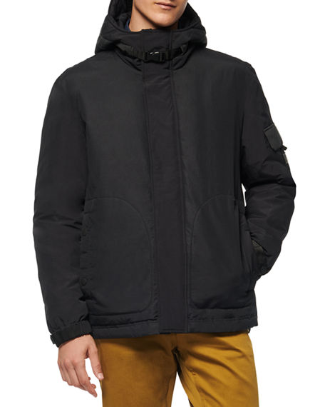 Image 2 of 3: Andrew Marc Men's Greiggs Hooded Puffer Coat