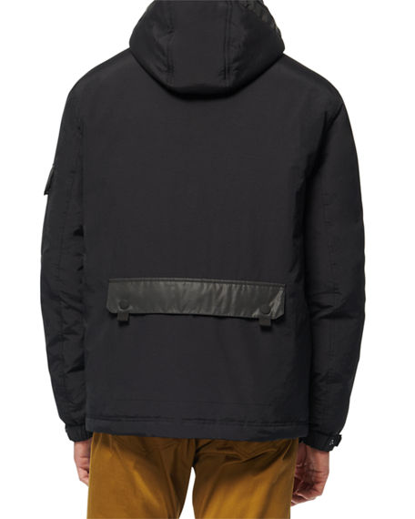 Image 3 of 3: Andrew Marc Men's Greiggs Hooded Puffer Coat