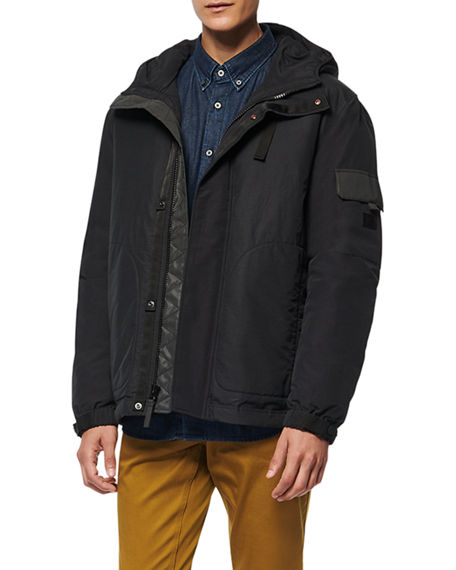Image 1 of 3: Andrew Marc Men's Greiggs Hooded Puffer Coat