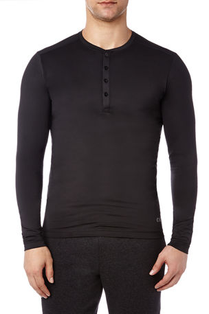 2Xist Men's Speed Dri Long-Sleeve Henley Shirt
