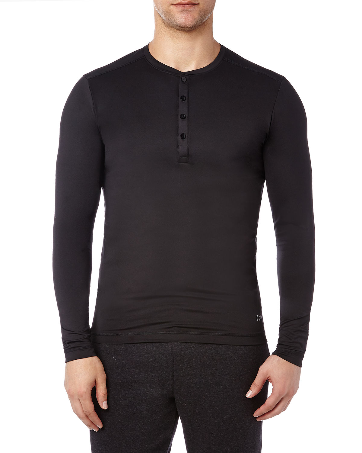 2(X)ist T-shirts MEN'S SPEED DRI LONG-SLEEVE HENLEY SHIRT