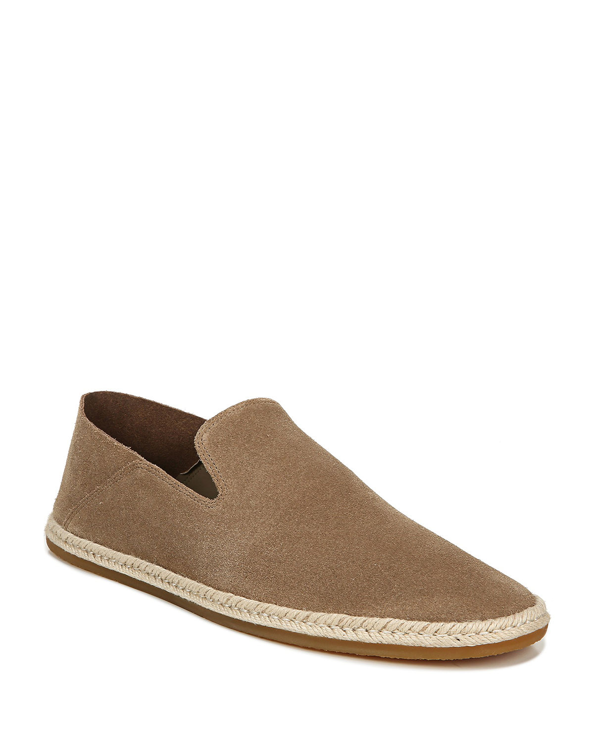 Vince MEN'S EASTON SUEDE ESPADRILLE SLIP-ON SNEAKERS
