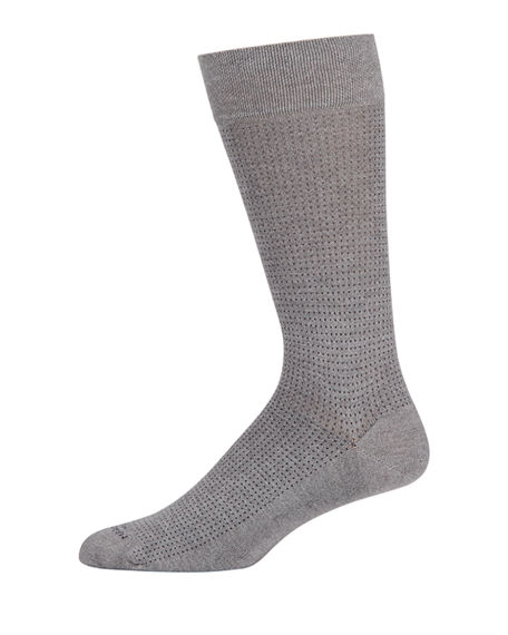 Marcoliani Men's Micro Pin-Dot Socks