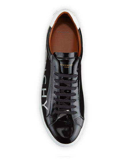 Image 2 of 4: Givenchy Men's Urban Street Patent Leather Logo Sneakers