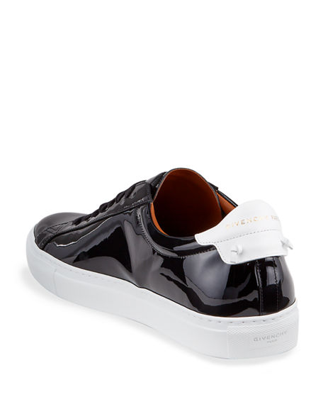 Image 4 of 4: Givenchy Men's Urban Street Patent Leather Logo Sneakers