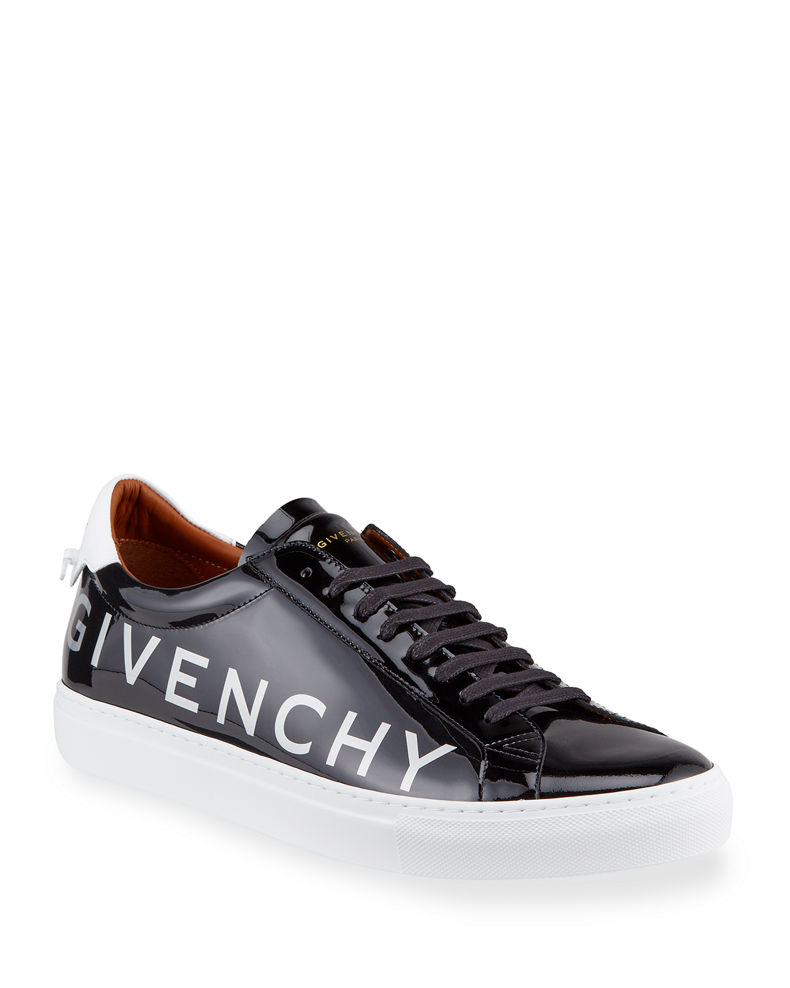 Givenchy Men's Urban Street Patent Leather Logo Sneakers