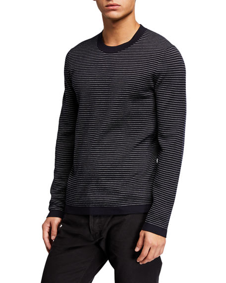 Image 1 of 2: Theory Men's Ollis Milos Striped Crewneck Sweater
