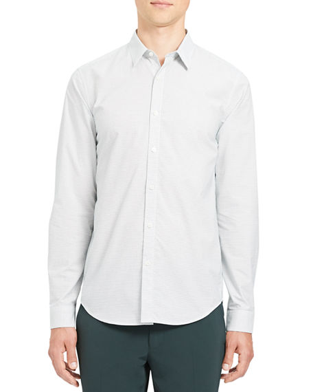 Theory Men's Irving Tick-Print Sport Shirt