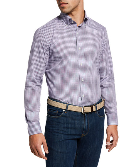Peter Millar Men's Plaid Long-Sleeve Sport Shirt