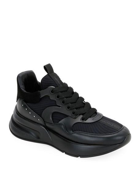 Alexander McQueen Men's Tonal Oversized Runner Sneakers