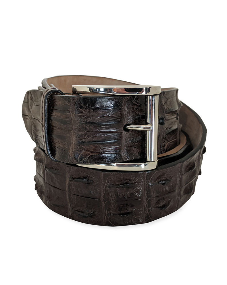 Zambezi Grace Men's Hornback Crocodile Belt