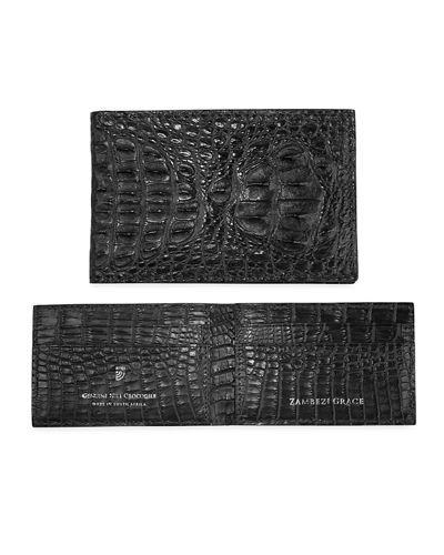 Zambezi Grace Men's Crocodile Leather Bifold Wallet