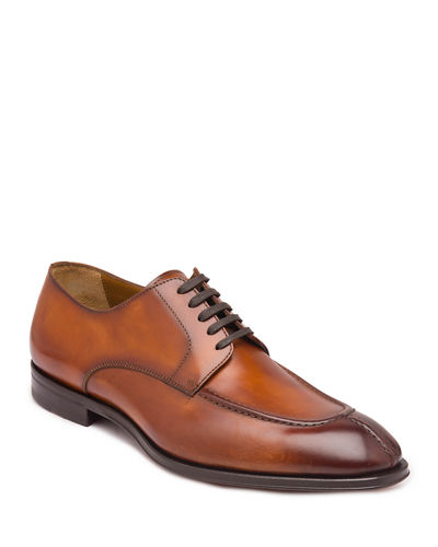 Men's Livio Burnished Leather Lace-Up Shoes