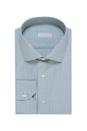 Stefano Ricci Men's Grid-Pattern Dress Shirt