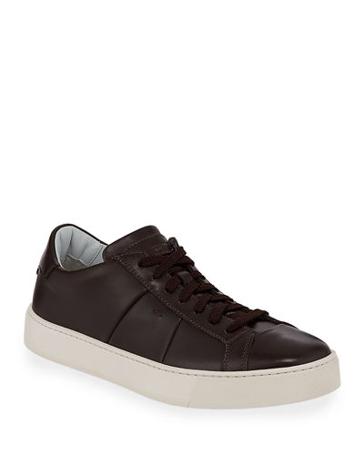 Men's Jannas Low-Top Leather Sneakers