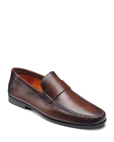 Men's Paine Whipstitched Leather Loafers