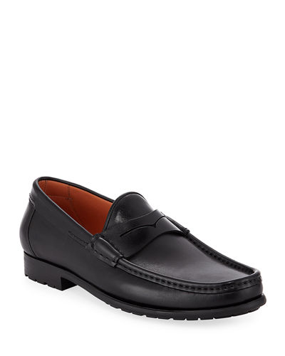 Ascott Leather Penny Loafers