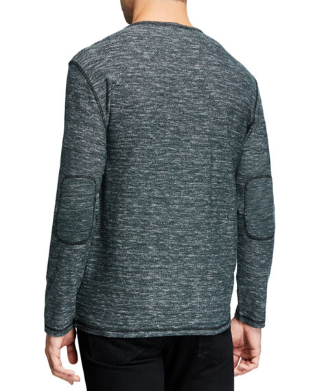 Image 2 of 2: John Varvatos Star USA Men's Bridgeport Long-Sleeve Feeder Stripe Henley Shirt