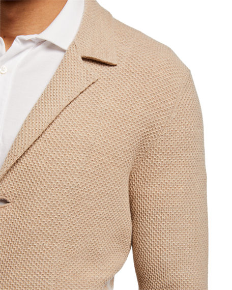 Image 3 of 3: Isaia Men's Merino Wool Cardigan Blazer