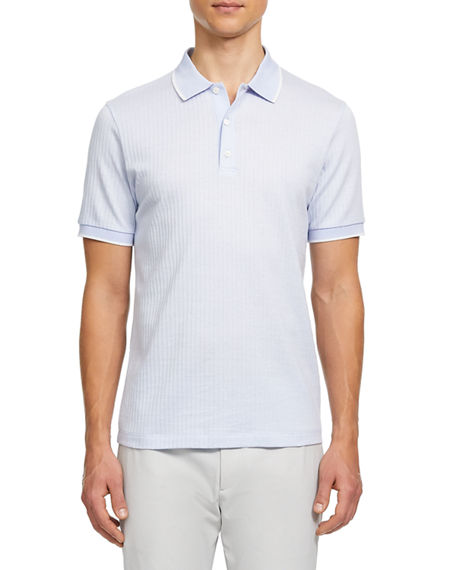 Theory Men's Geo Zelig Jacquard Polo Shirt