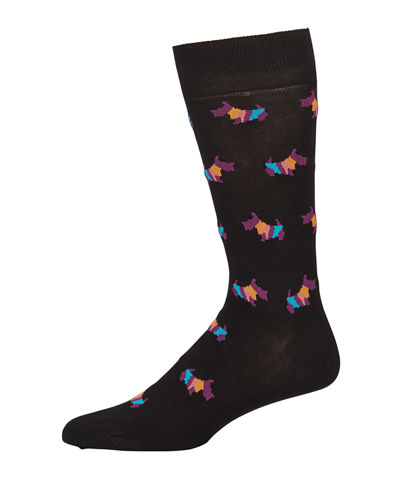 Paul Smith Men's Artist Dog Graphic Socks