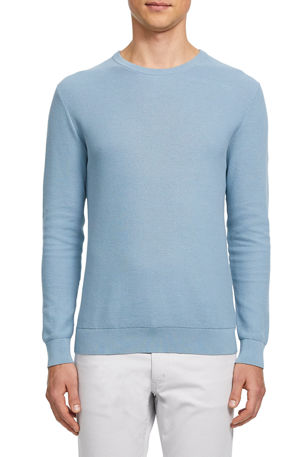 Theory Men's Riland Breach Crewneck Sweater