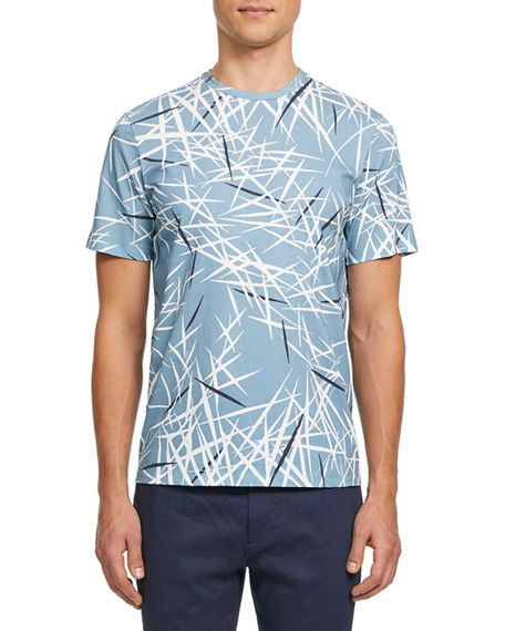 Theory Men's Tropical-Print Crewneck Tee