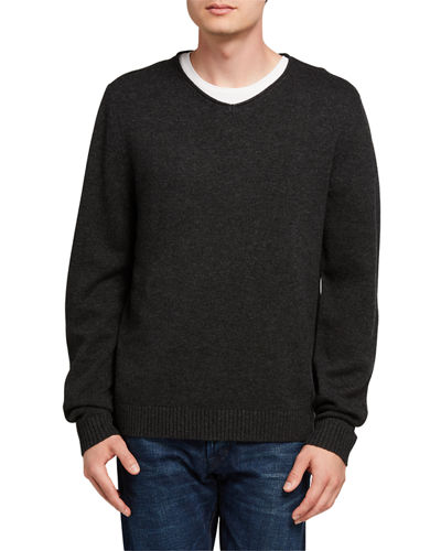 Charcoal V Neck Sweater | Neiman Marcus