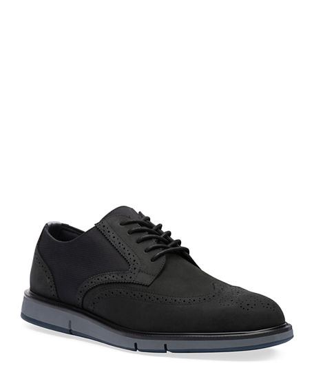 Swims Men's Motion Leather Wing-Tip Derby Shoes