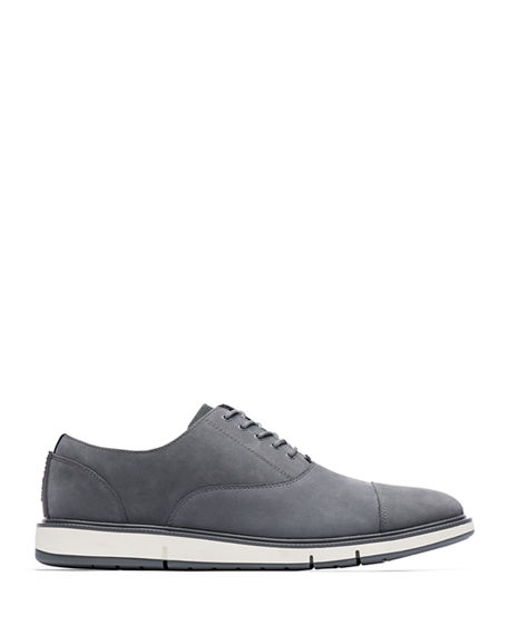 Image 2 of 2: Swims Men's Motion Leather Cap-Toe Oxford Shoes