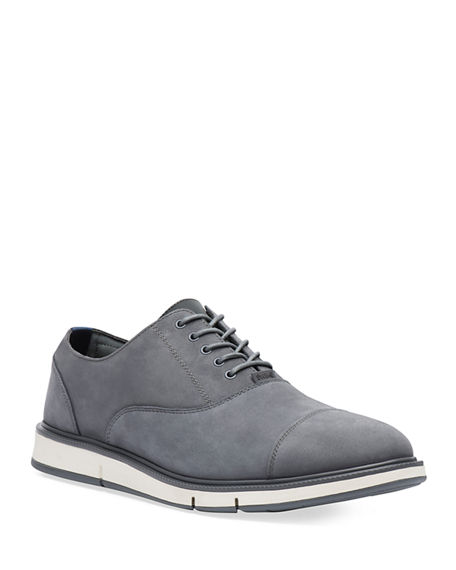 Image 1 of 2: Swims Men's Motion Leather Cap-Toe Oxford Shoes