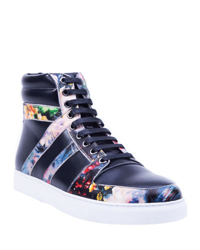 Men's Arthur Leather High-Top Sneakers