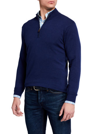 Peter Millar Men's Crown Soft Quarter-Zip Sweater