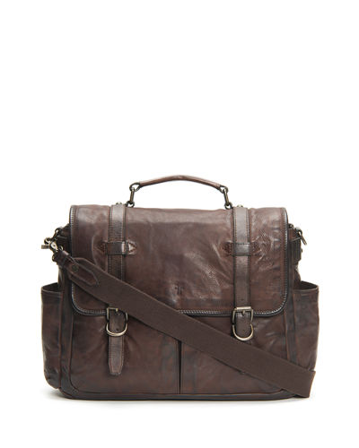 Men's Murray Antiqued Leather Briefcase Bag